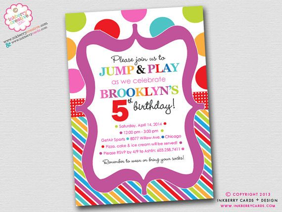 jump play and bounce party polka dots stripes birthday party