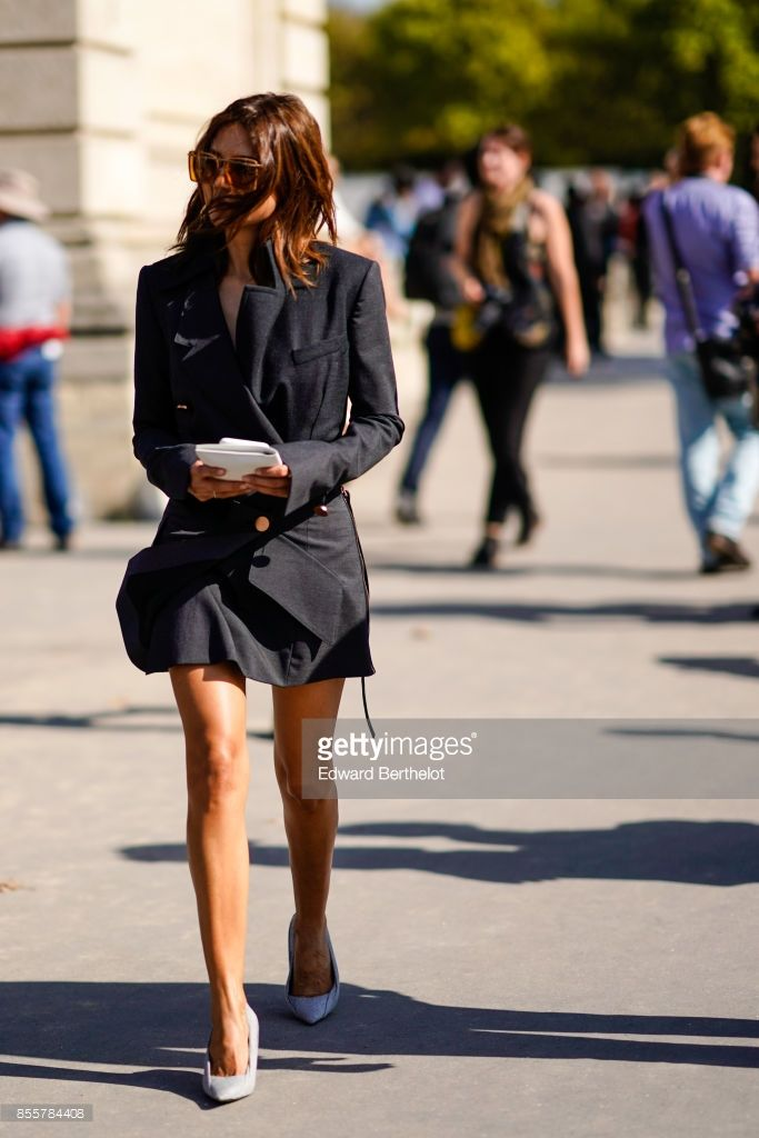 433d161ae96 Christine Centenera is seen, outside Nina Ricci, during Paris Fashion Week  Womenswear Spring Summer 2018, on September 29, 2017 in Paris, France.