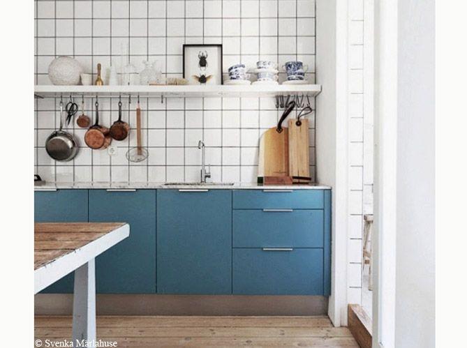 Cuisine bleue : découvrez toutes nos inspirations - Elle Décoration ...