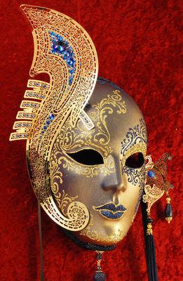 Very similar to that which was worn by Serena Luxury venetian volto mask Castello De Tullevette Monticello from the House of Thoth