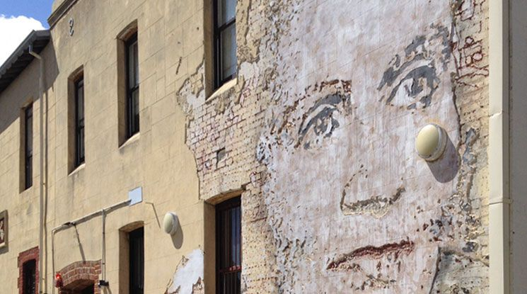 #5 CONT: On the wall of the Norfolk Hotel, Alexandre Farto chiselled a portrait of Dorothy Tangney, Australia's first woman senator to commemorate her.