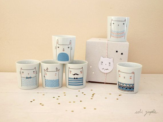 cup Family Color by Sobigraphie on Etsy, €12.00