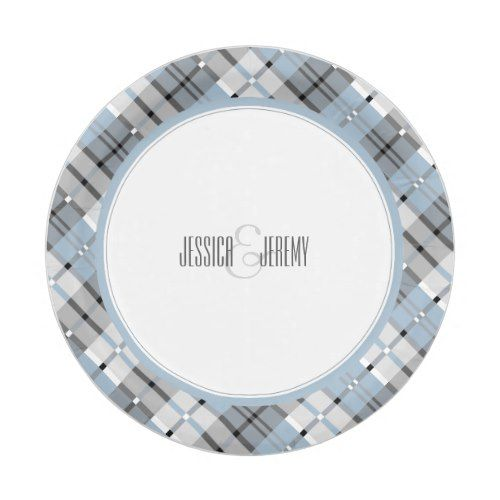 Modern Plaid Pattern Light Blue and Grey Paper Plate | Geometric Wedding Ideas | Pinterest | Plaid pattern Plaid and Geometric wedding  sc 1 st  Pinterest : grey paper plates - pezcame.com