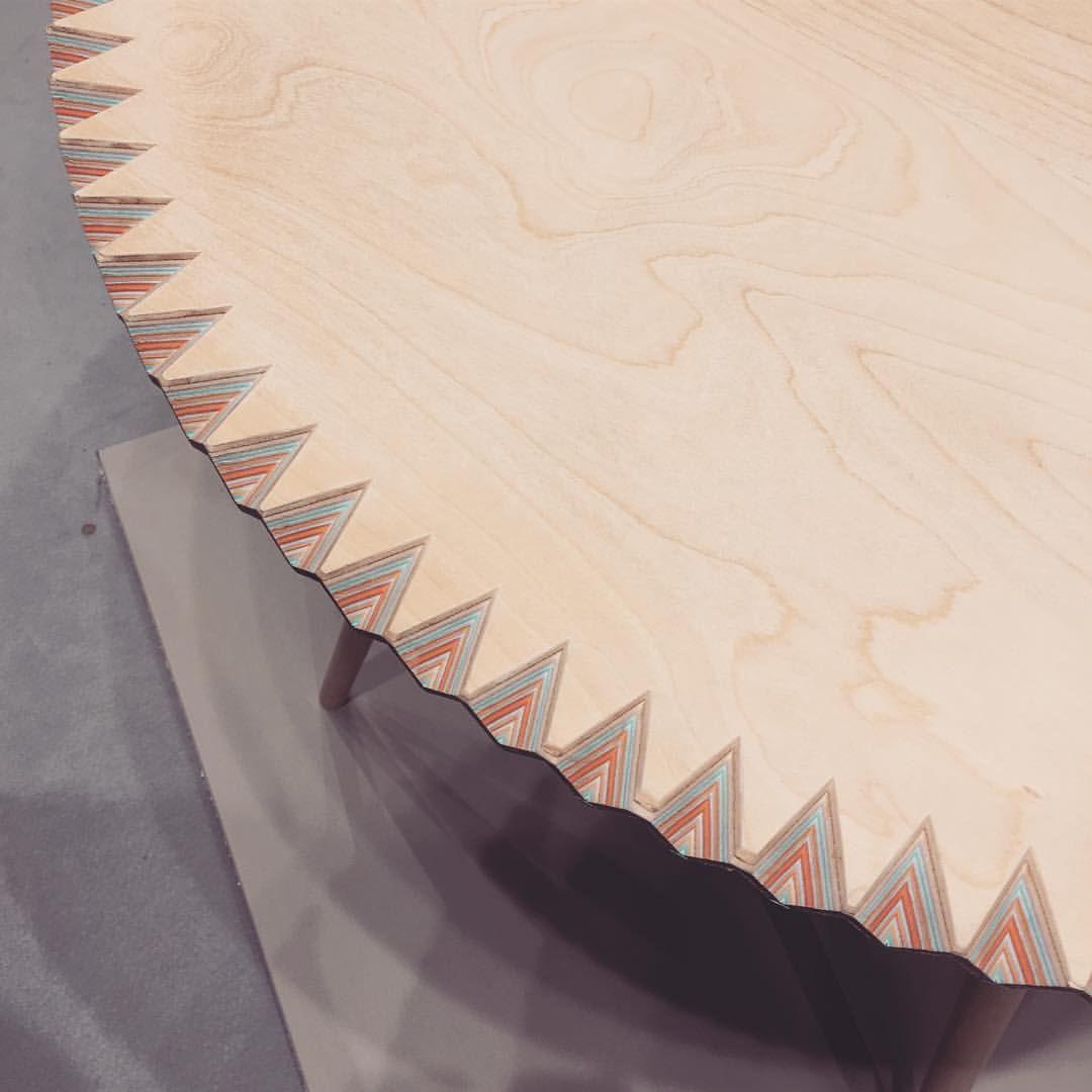 """Mi piace"": 32, commenti: 1 - Detaljform (@detaljform) su Instagram: ""Layers on layers / Lager på lager #bord #bordsskiva #table #top #design #formgivning #plywood…"""