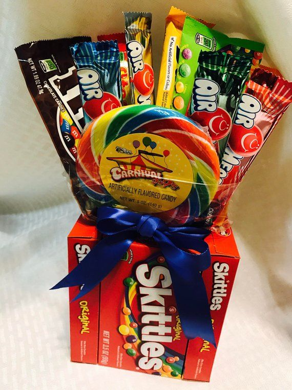 Candy Bouquet Birthday Gifts Gift Basket Edible Custom