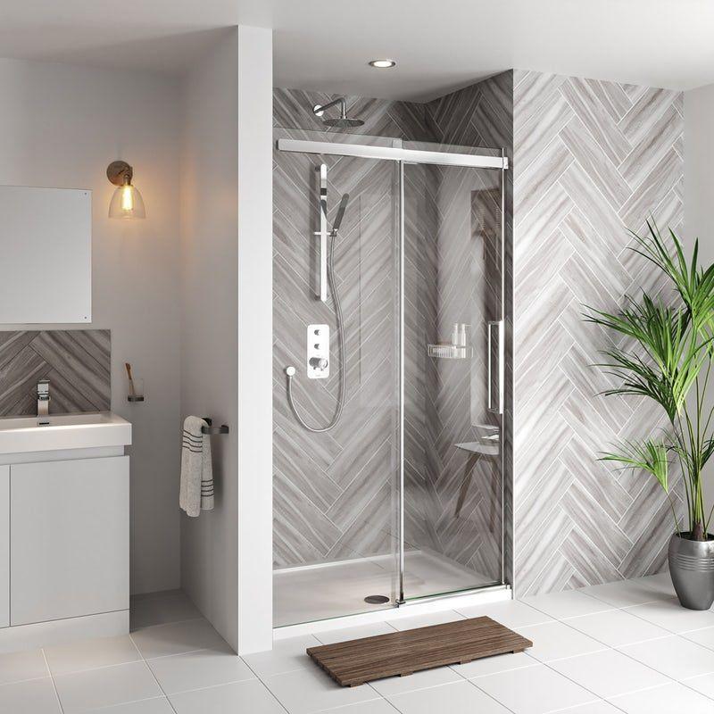 Mode Foster Stainless Steel Sliding Shower Door 1200mm In 2019 Shower Doors Frameless Sliding Shower Doors Doors