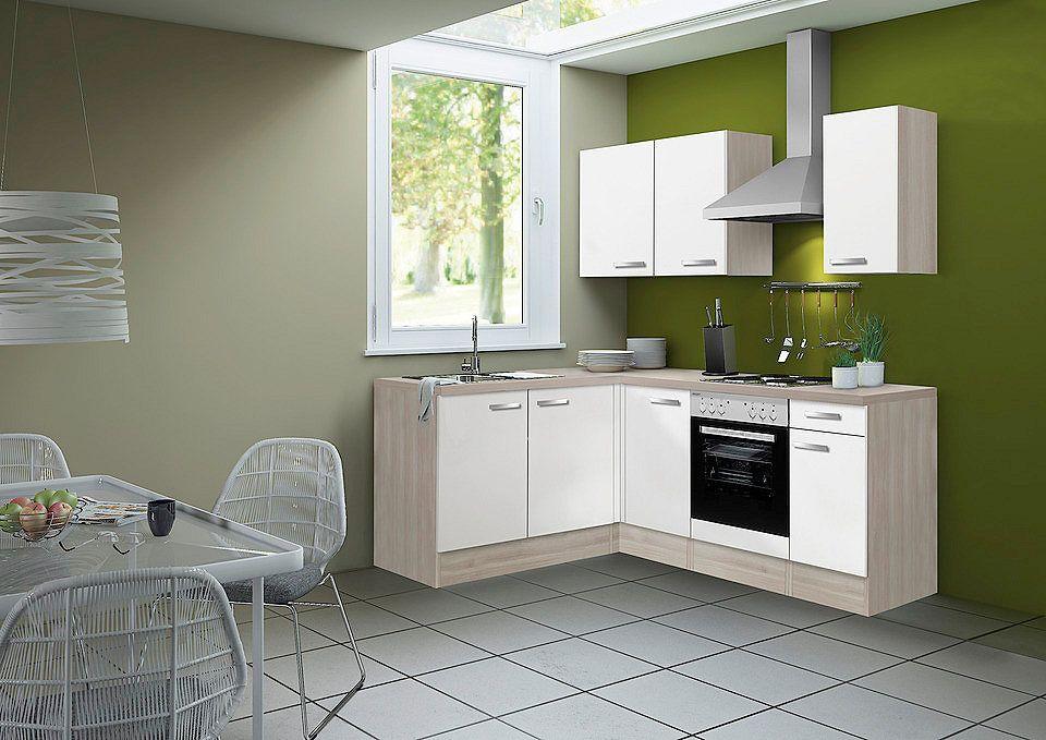 OPTIFIT Küchenzeile ohne E-Geräte »Skagen, Breite 210 x 165 cm - k chenblock ohne e ger te