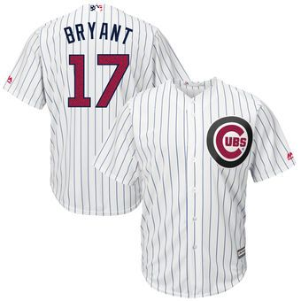 chicago cubs kris bryant majestic fashion stars stripes cool base player jersey white