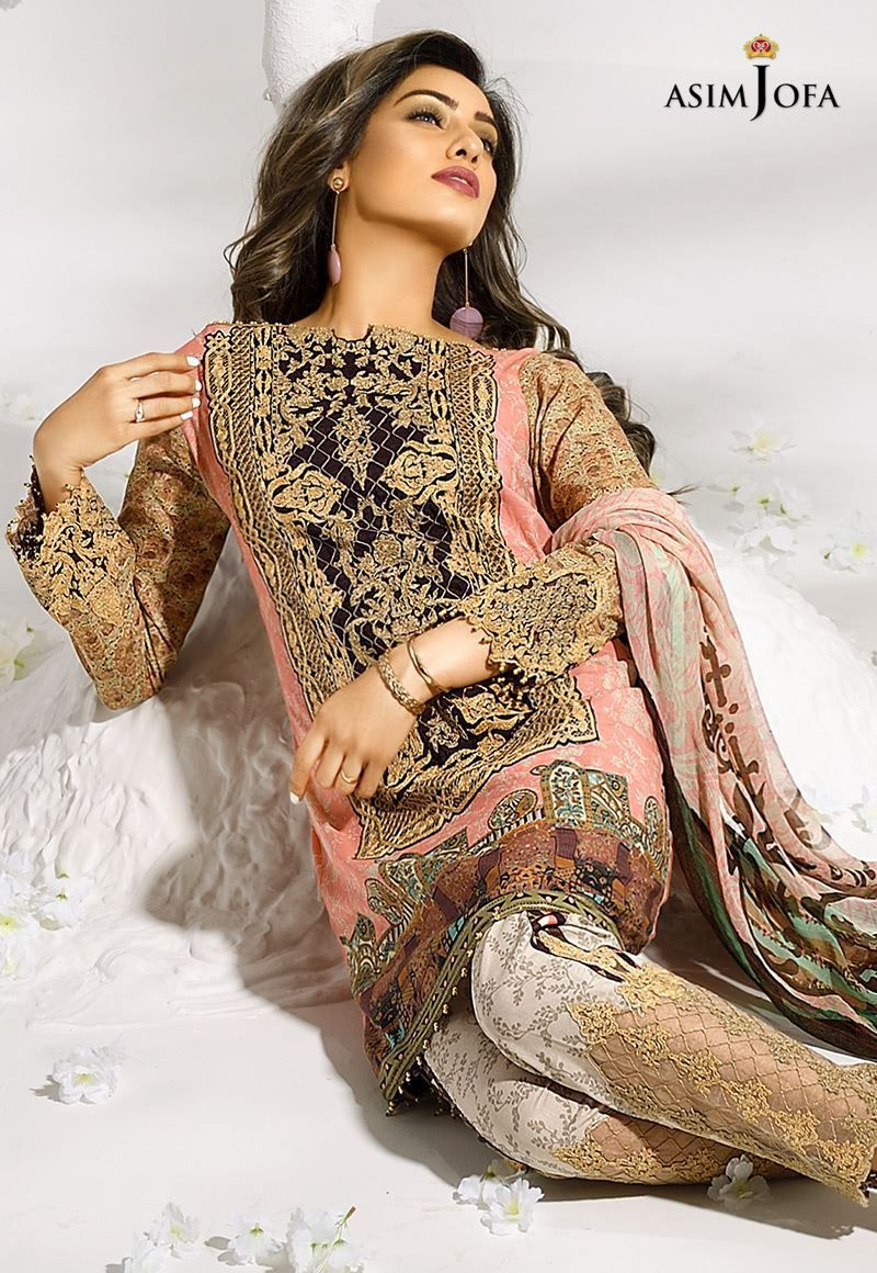 most popular 50% off uk store Asim Jofa Printed Embroidered Designer Lawn Dresses Collection ...