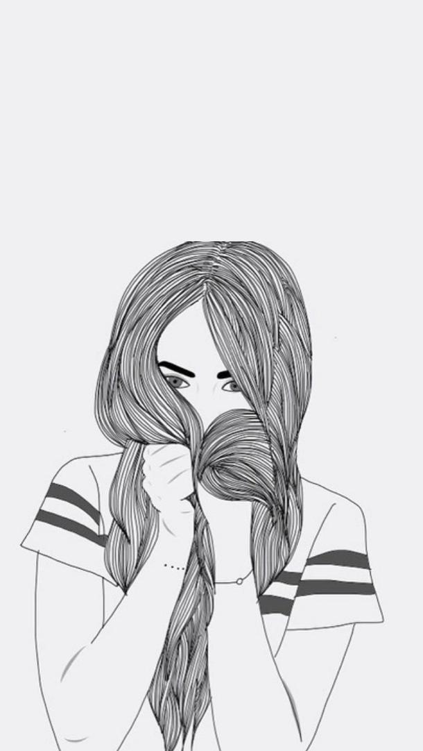 Outline Drawings Tumblr Google Search Girl Tumblr Drawings