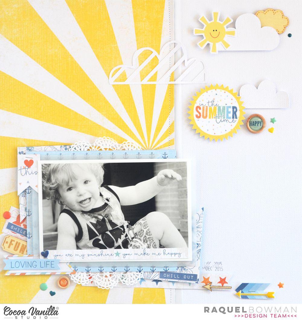 In The Summertime | Hello Summer Layout | Raquel Bowman | Cocoa Vanilla  Studio Nice Ideas