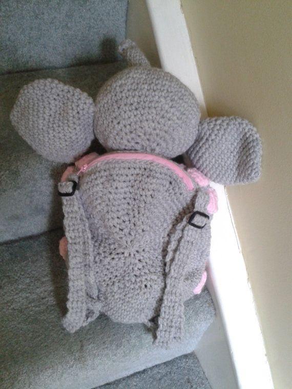 Elephant Kid\'s Backpack Bag or Pyjama Case Crochet PATTERN by Peach ...