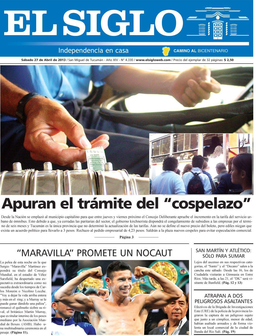 Diario El Siglo - Sábado 27 de Abril de 20 13