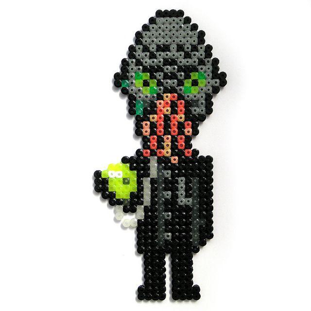 Doctor Who - Nephew - Monster Mondays Week 3 perler beads by Arcade Art, via Flickr