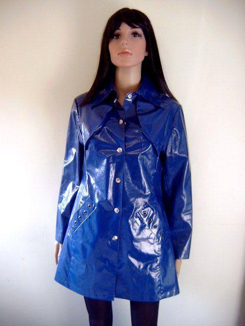 Blue PVC Raincoat | Плащ