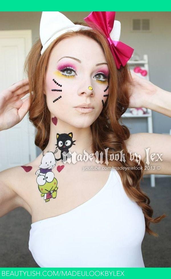 Maquillage Halloween Hello Kitty.Hello Kitty Hello Kitty Face Paint Easy