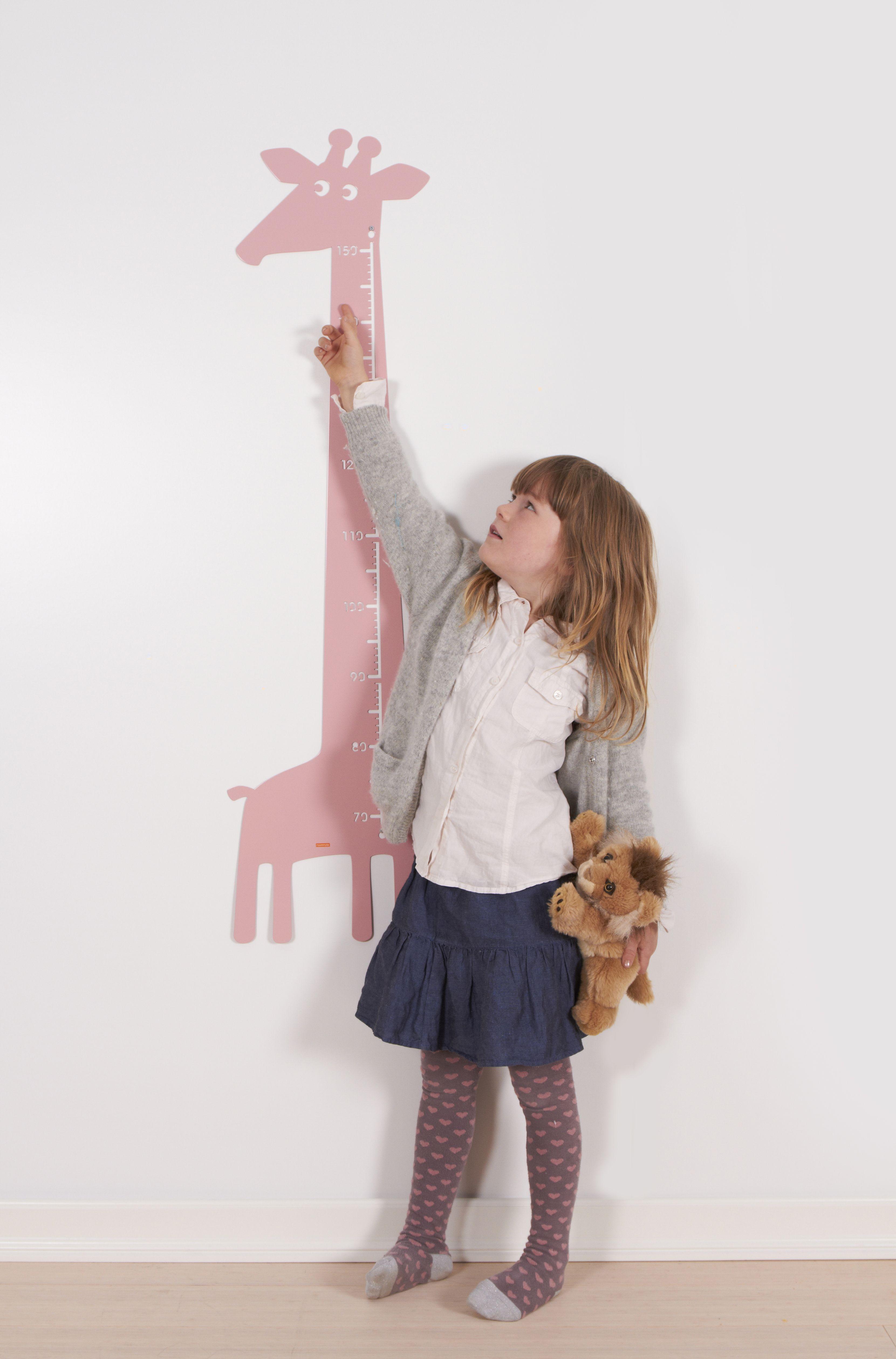 Giraffe Wall Ruler, Pink - Roommate