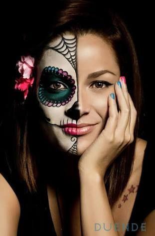 Resultado De Imagen Para Mitad Catrina Mitad Cara Maquillaje De
