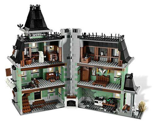 Addams Family House Szukaj W Google Lego Haunted House Lego Halloween Lego House