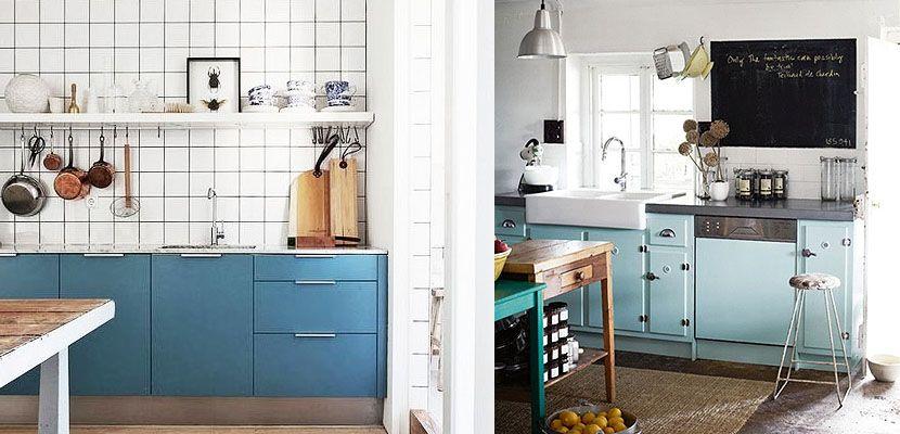 cocinas vintage azul pastel clidas y acogedoras