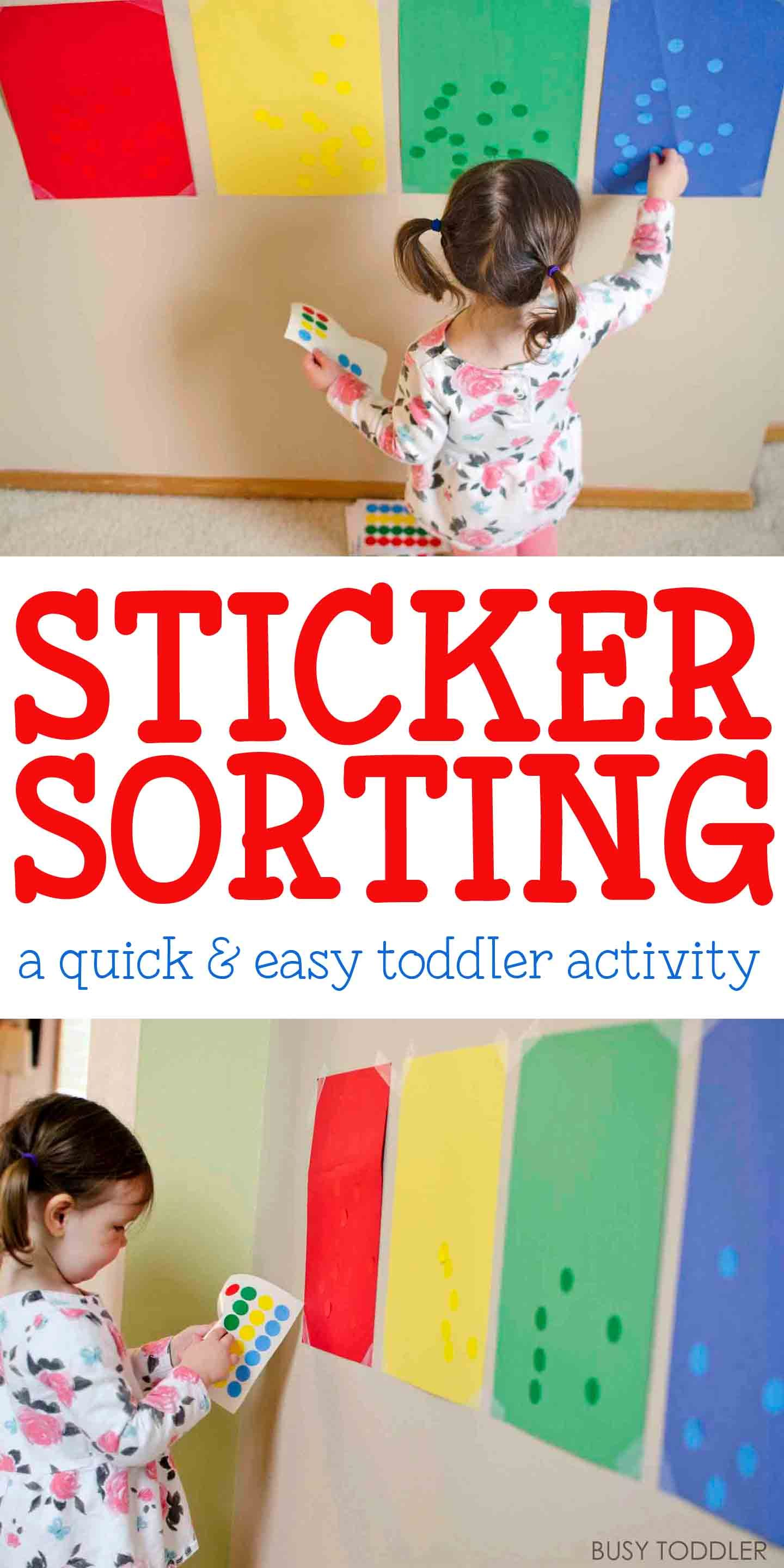 Sticker Sorting Activity Busy Toddler Toddler Learning