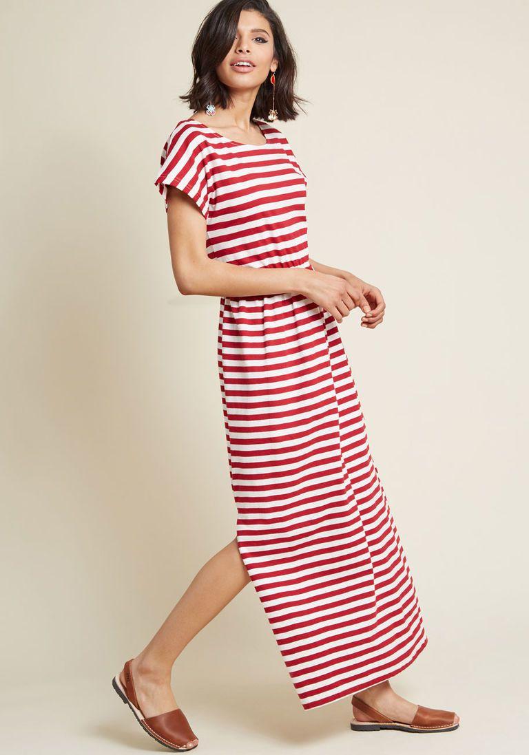 2d9963cf31 Compania Fantastica Cotton the Moment Maxi Dress in M - Cap A-line by Compania  Fantastica from ModCloth