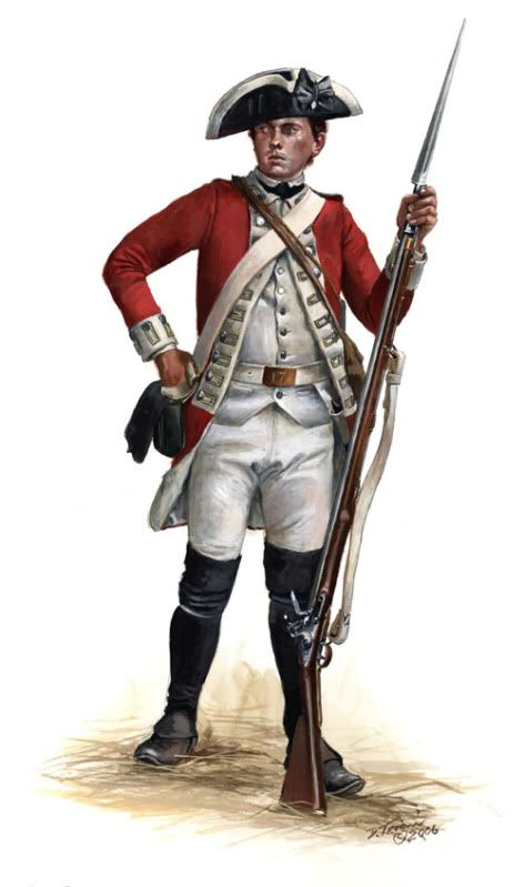 SOLDIERS- Troiani: AWI- Britain: British Soldier's uniform, by Don Troiani.