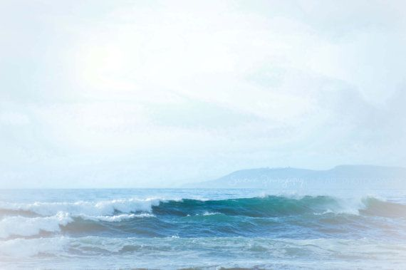 ocean photography bright blue teal by SouvenirPhotography on Etsy, $10.00