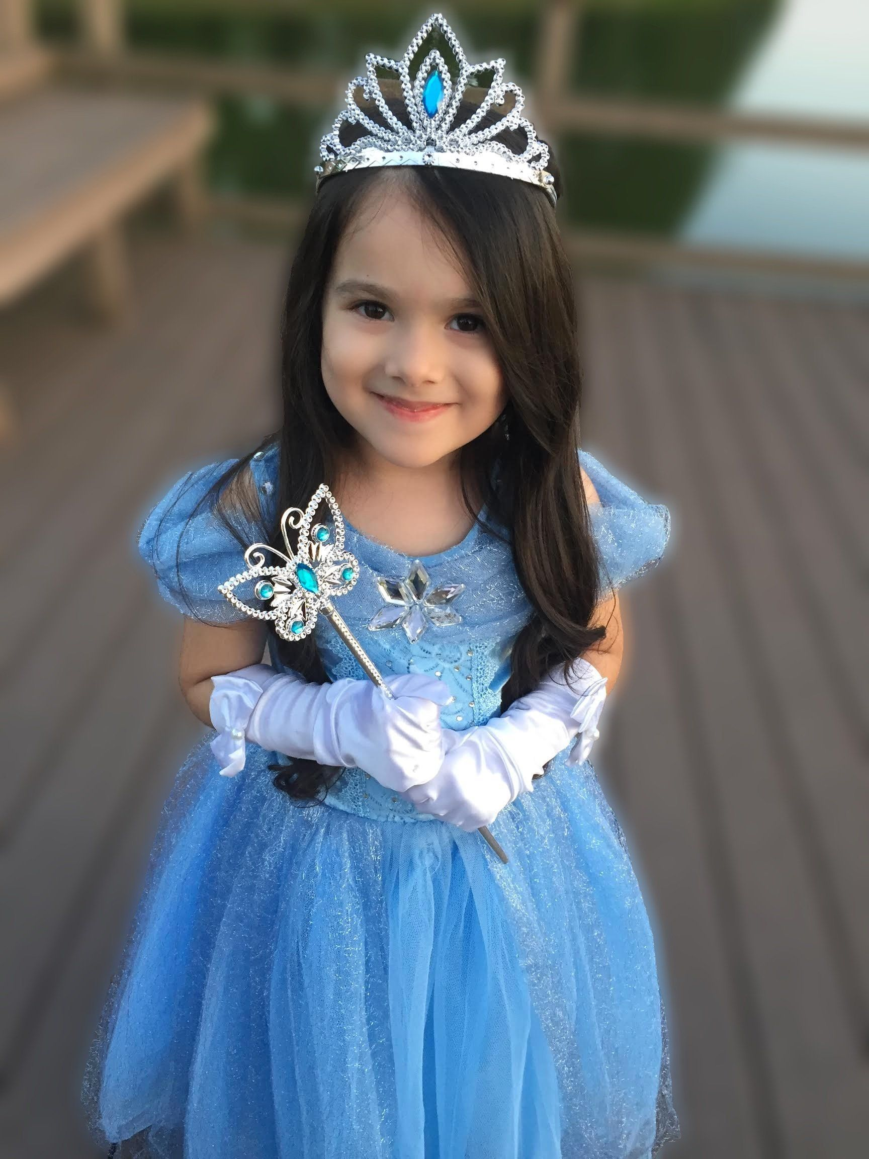 Cinderella crystal princess party costume dress with
