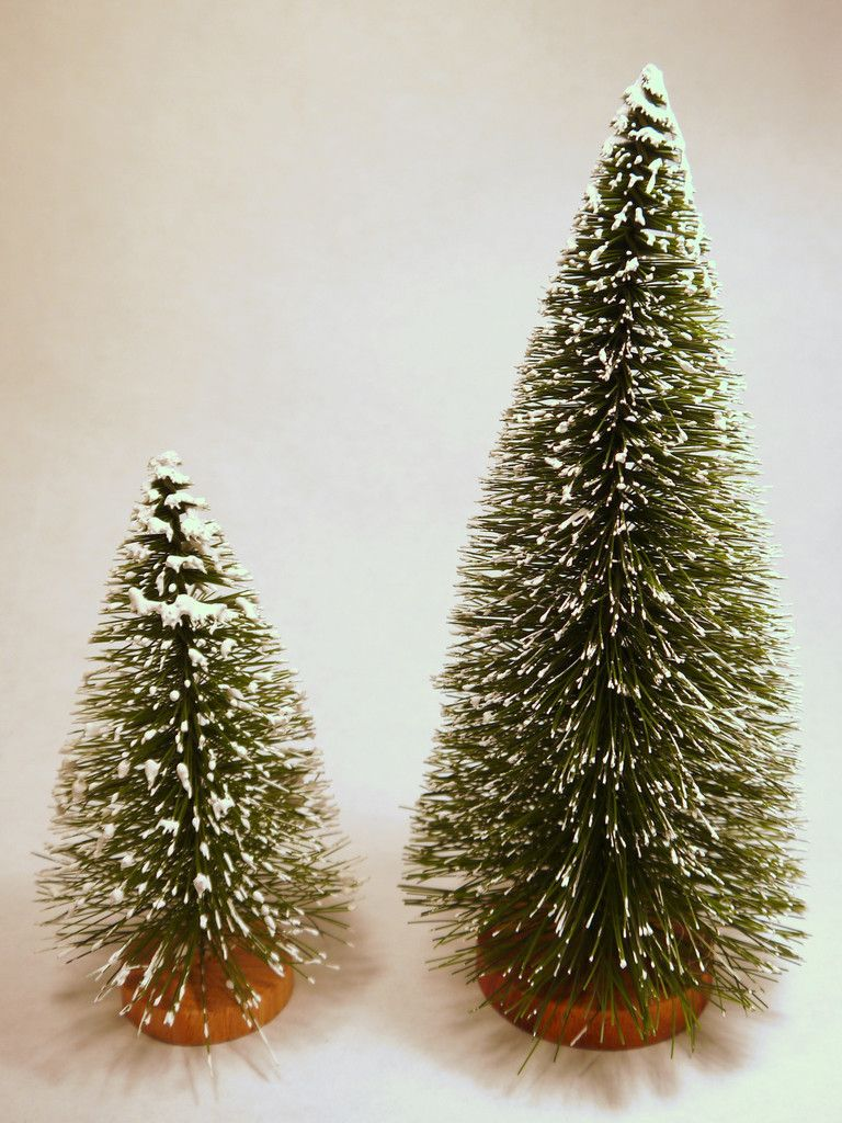 Flocked Bottle Brush Christmas Trees 1pc Bottle Brush Christmas Trees Bottle Brush Trees Types Of Christmas Trees