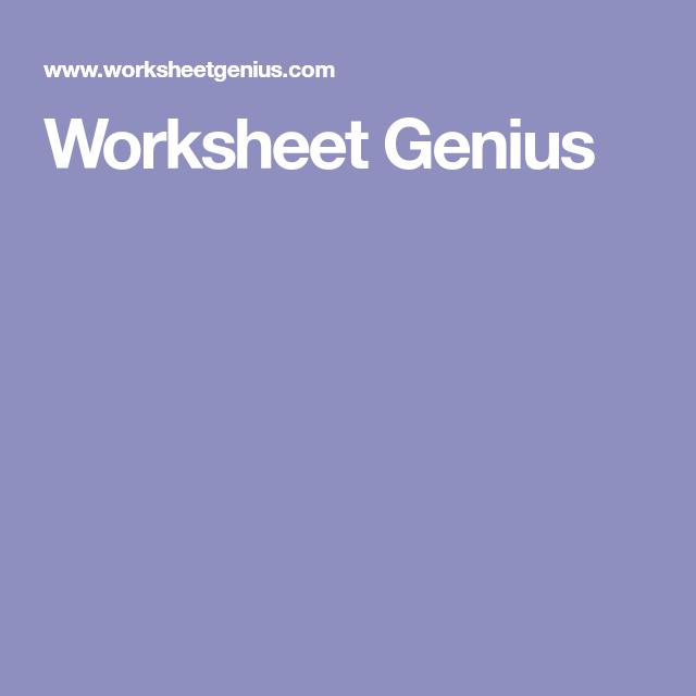 Worksheet Genius   CLASSROOM ACADEMIC RESOURCES   Worksheets ...