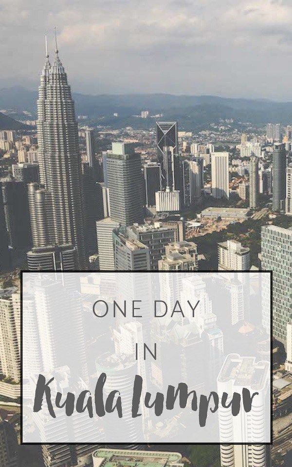 Traveling to Kuala Lumpur soon? Read this article to find out about our tips. Here is what we did on one day in Kuala Lumpur.