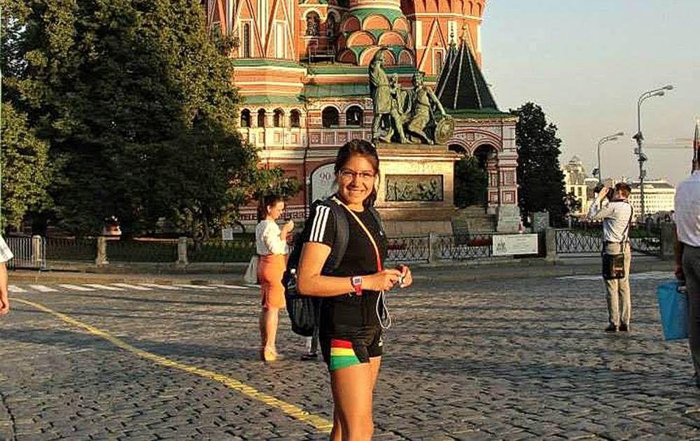 Ángela Castro  - es dueña del record nacional en la prueba de 20km, campeona sudamericana de marcha atlética