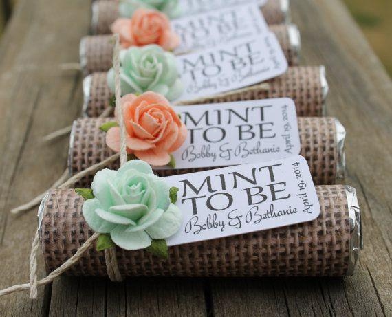 Mint Wedding Favors Set Of 24 Mint Rolls Mint To Be Favors