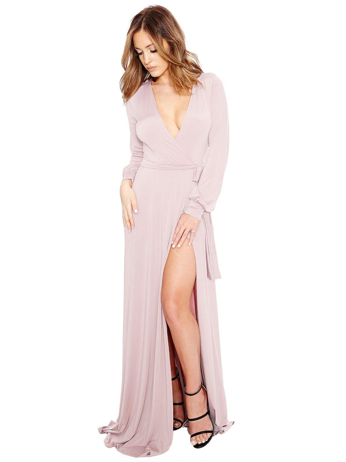 Rachel Zoe Debbie Grecian Wrap Dress in Nude (Natural) - Lyst