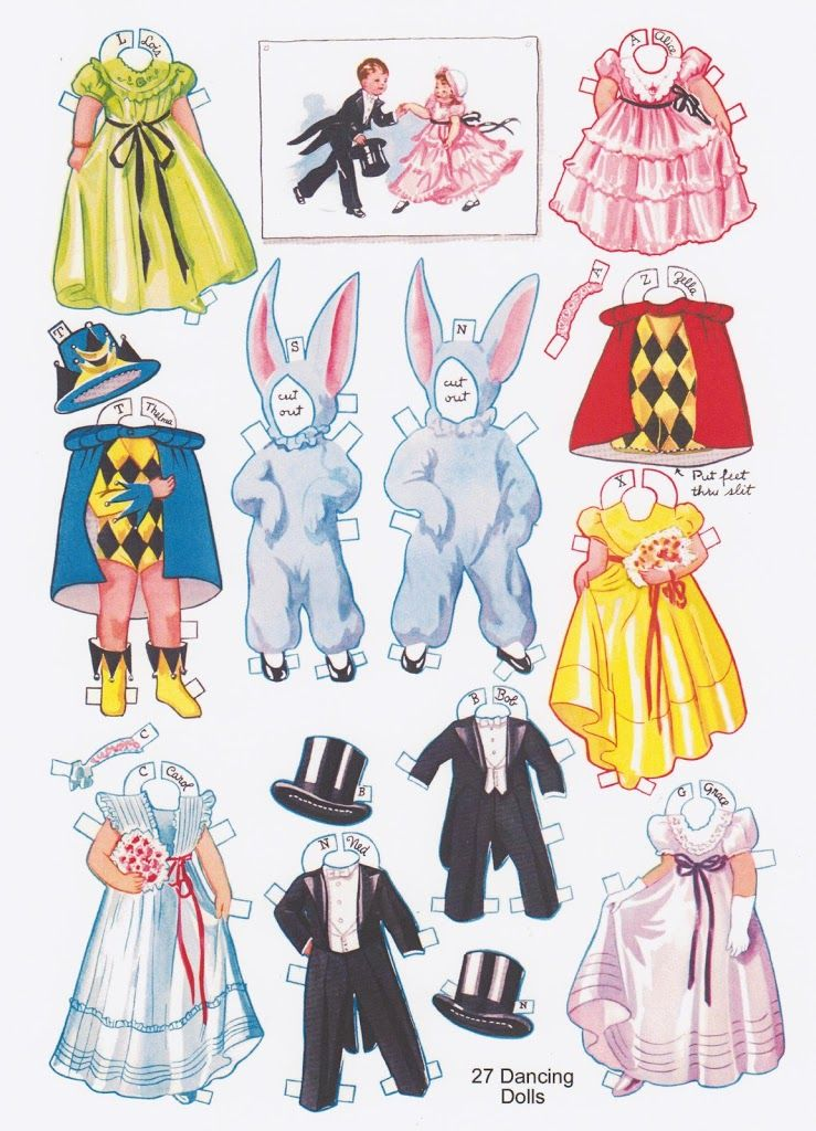 ~27 Dancing School Paper Dolls * 1500 free paper dolls at Arielle Gabriel's The International Paper Doll Society for paper doll pals at Pinterest *
