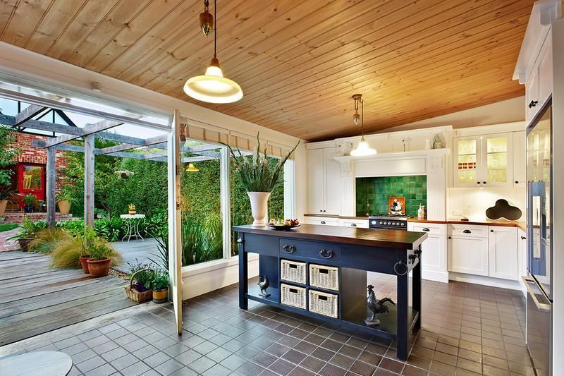 Loving this kitchen/garden setting from a house for sale