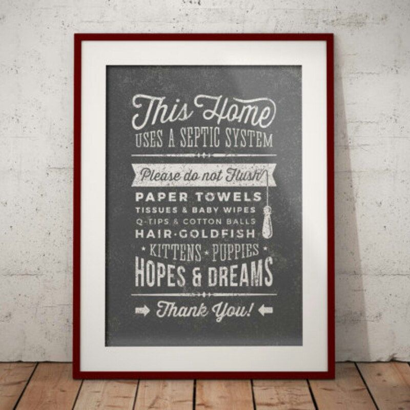 Bathroom sign septic system - instant download printable ...