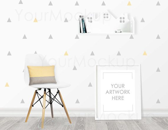 Kids room Nursery print Styled Frame Mockup White by MyMockup ...