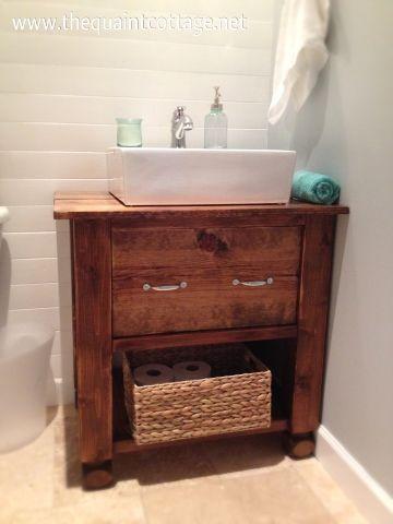 Modest Bathroom Vanity Farmhouse Style Exterior