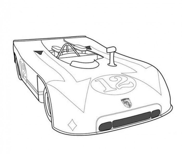 lola t70 classic le mans prototype car coloring page
