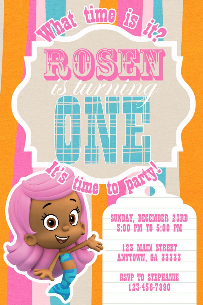 16 best ideas about Bubble guppie birthday – Bubble Invitations Birthday