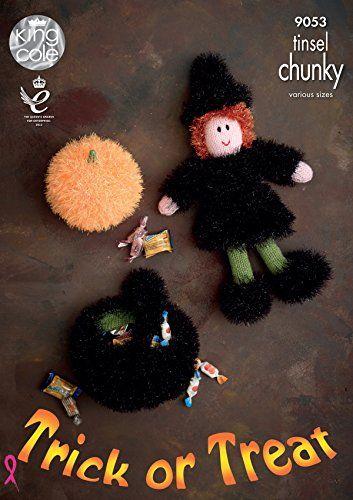 King Cole Dk Halloween Knitting Pattern Witch Cauldron Pumpkin 9053
