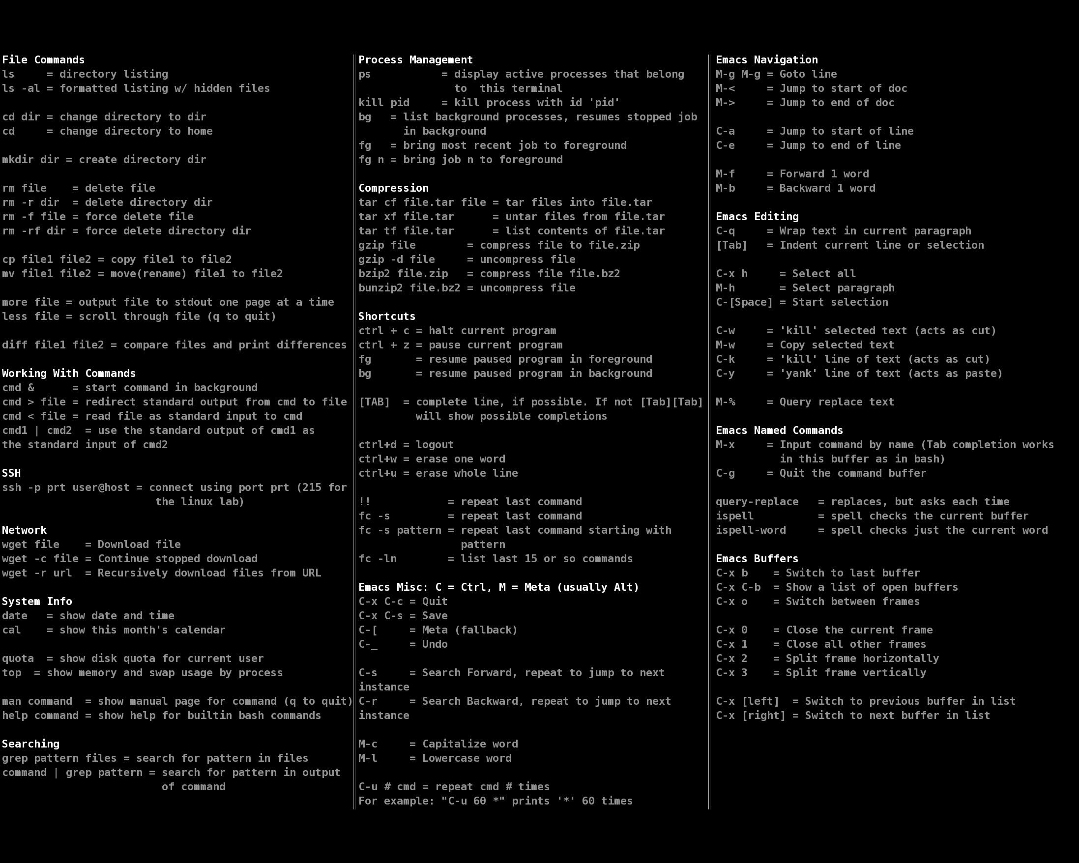 Simple Windows Command Prompt Cheat Sheet Cheat Sheet All