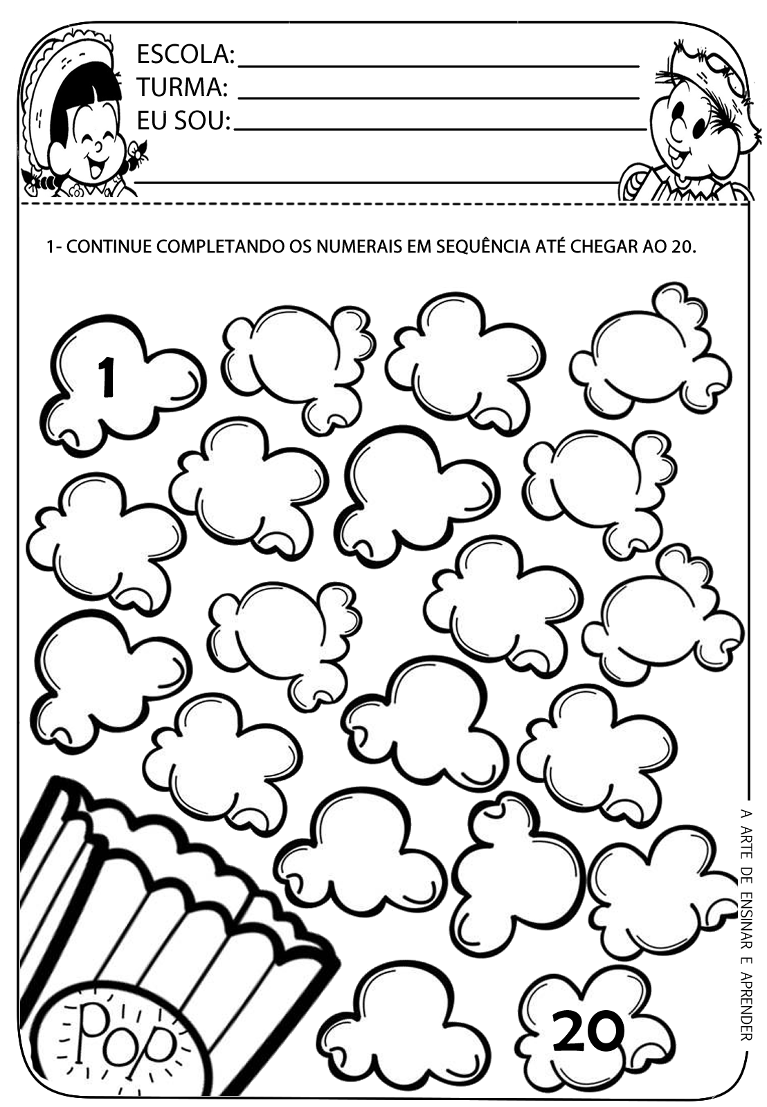 Popcorn Worksheet