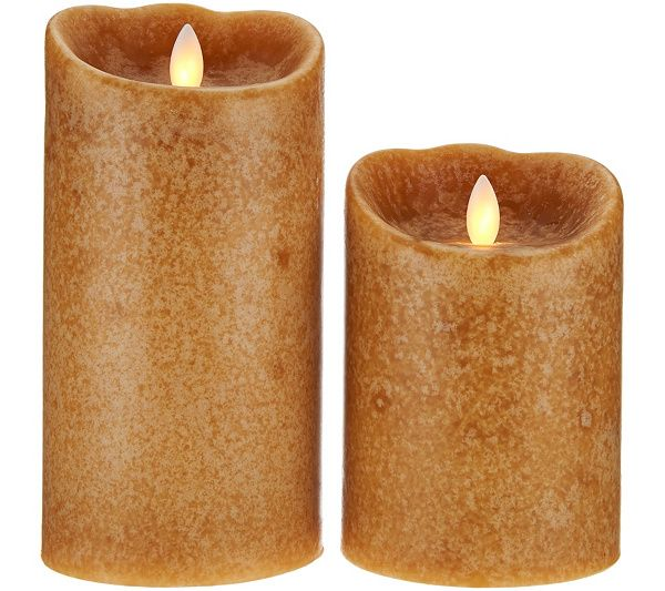 Set Of 2 Mirage Flameless Candles By Candle Impressions Qvc Com