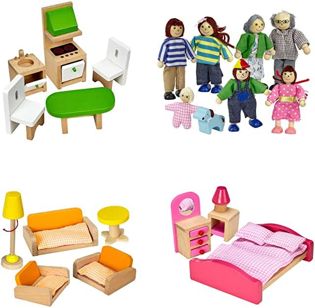 hape wooden dollhouse furniture Toys & Games