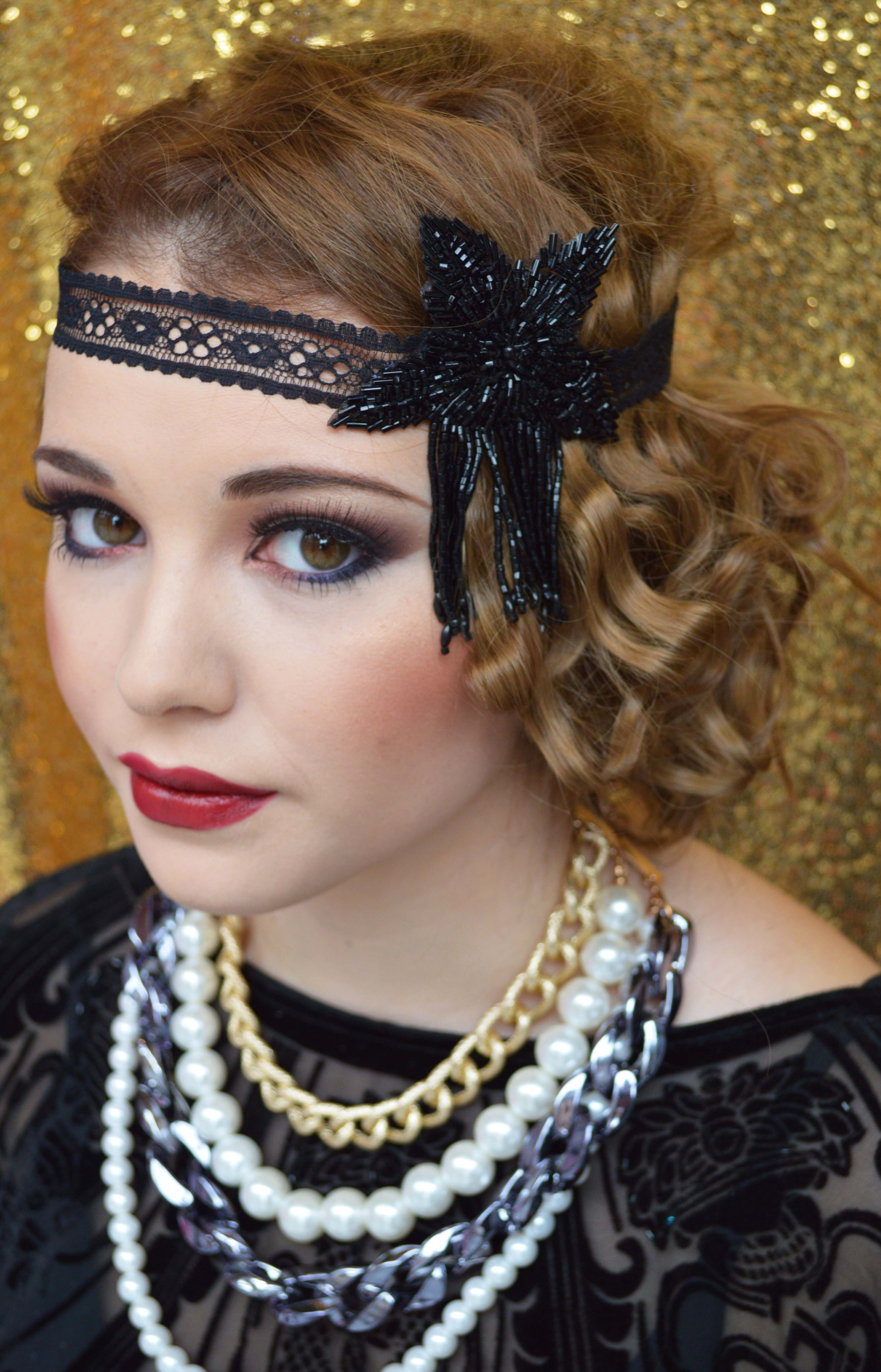 the great gatsby inspired makeup and hair by peaches xx