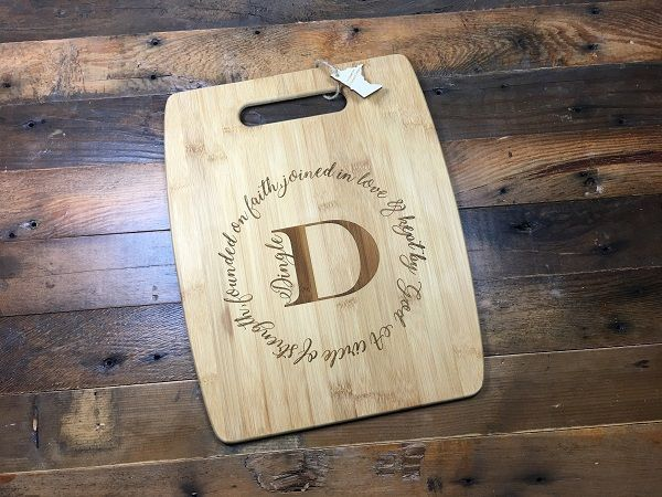 Laser Engraved Bamboo Cutting Board With Handle Customized Cutting