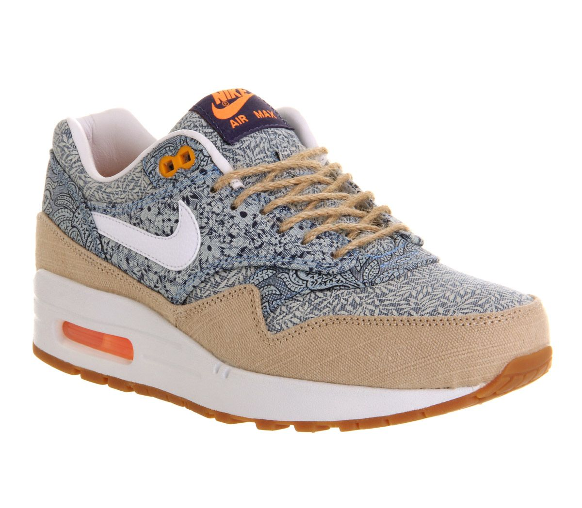 size 40 c03cc 8c623 Nike for liberty love Nike Air Max 1 (l) Blue Recall Linen Liberty - Hers  trainers